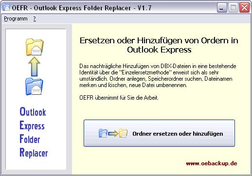 OEFR - Outlook Express Folder Replacer
